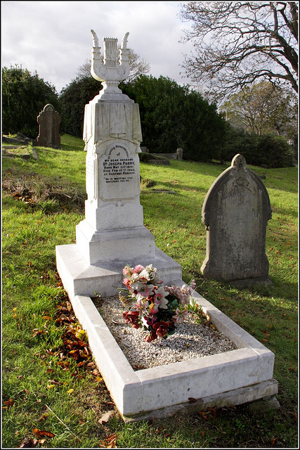 Joseph Parry's Grave at Penarth
