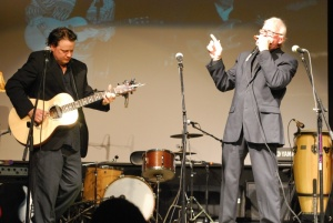Stewart Jones, guitar and Brian Locking, harmonica in Concert